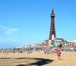 blackpool beach-and-tower