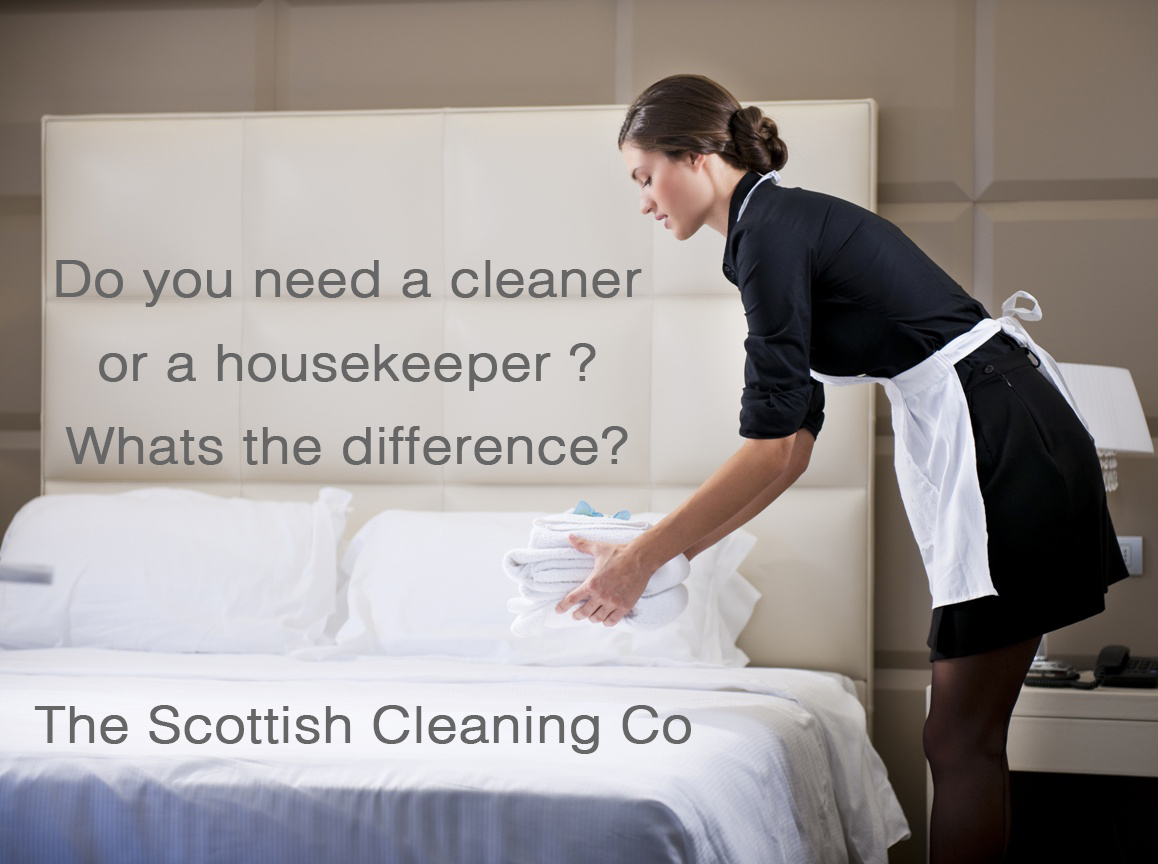 Do I need a housekeeper or a cleaner ? What's the difference anyway?